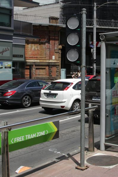 'Elektroline' traffic signals for the point indicators at Flinders and Spencer Street