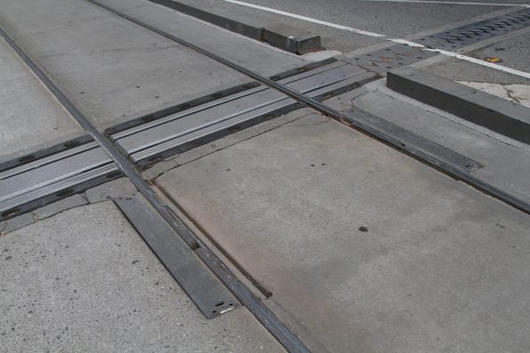 Expansion joints in the trams tracks across the Collins Street bridge