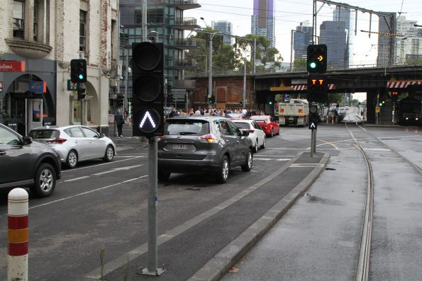 Point indicators southbound at the Spencer and Flinders Street curves