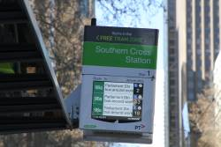 Notice that route 86 and 96 trams have bus replacements due to trackwork