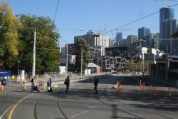 Work still ongoing to rebuild Southbank Boulevard at St Kilda Road