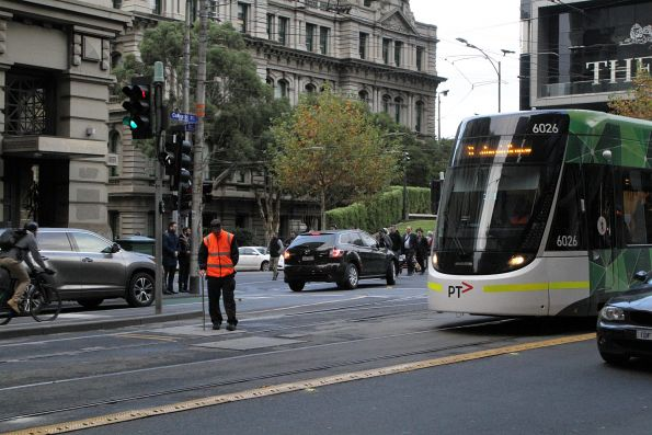 Yarra Trams operations staff at Collins and Spencer Street to throw the points manually