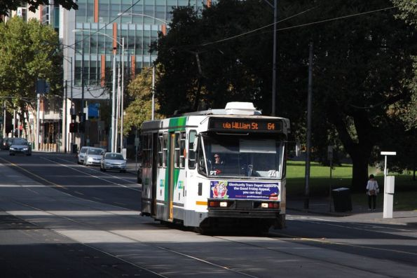 A diverted A1.241 heads north on William Street outside Flagstaff Gardens