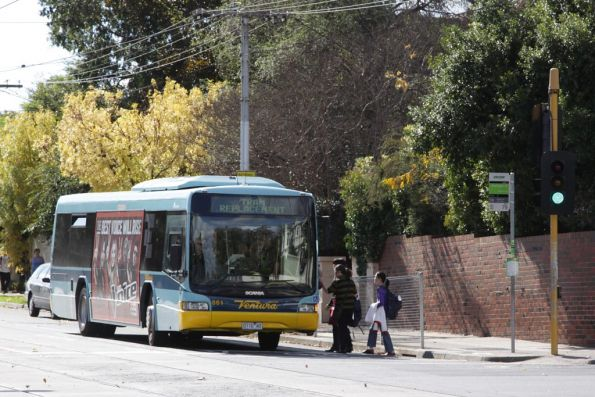 Ventura #861 0110AO with a tram replacement service on Glenferrie Road