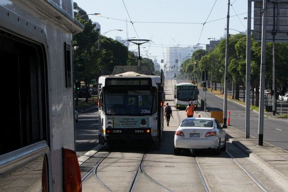 Shunting around route 59 trams on Flemington Road, due to bus replacements past the Essendon Depot trackworks