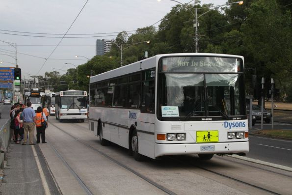 Dysons bus #278 rego 0925AO having dropped off route 59 passengers on Flemington Road
