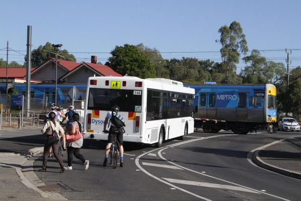 Dysons #748 waits for Comeng 627M at Royal Park
