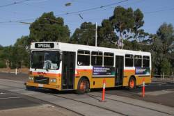 Sita high floor bus #9 rego 2309AO on a route 55 replacement service at Royal Park