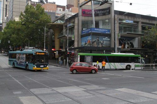 Looks like another bus has gotten stuck at the corner of Bourke into Elizabeth Street