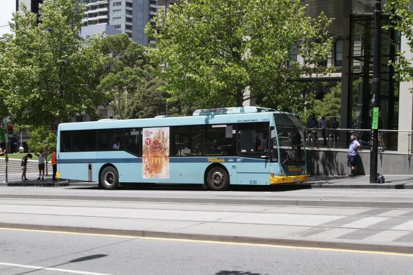 Ventura bus #873 rego 5563AO on a route 109 tram replacement service outside Southern Cross Station