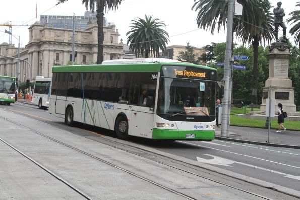 Dysons bus #704 8027AO at Spring and Collins Street
