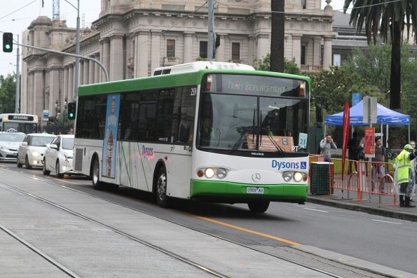 Dysons bus #701 7965AO at Spring and Collins Street