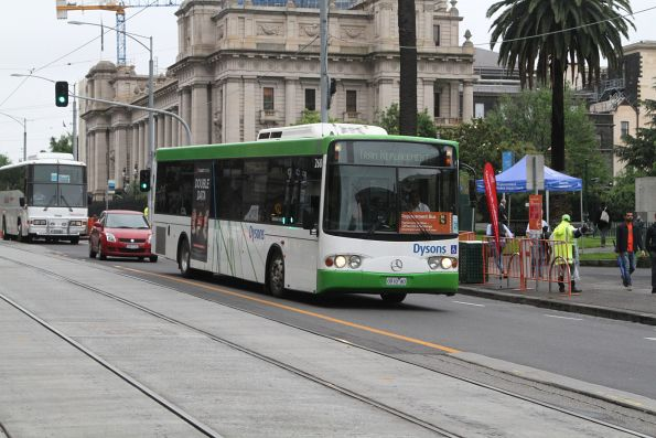 Dysons non-airconditioned bus #120 4275AO at Spring and Collins Street