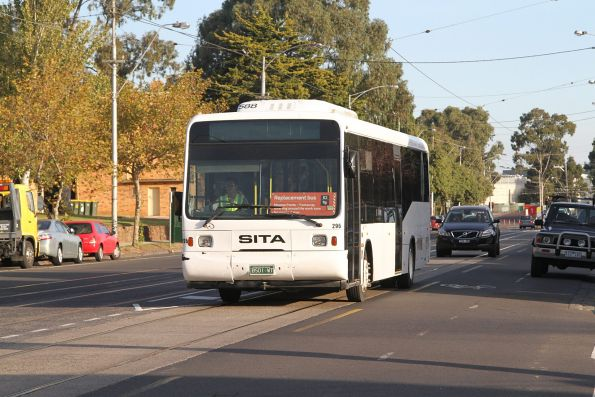 Sita bus #296 BS01WT on a route 82 replacement service on Union Road in Ascot Vale