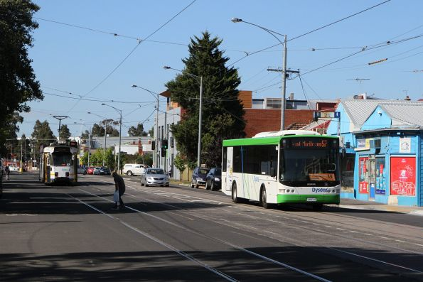 Dysons bus #486 7454AO on a route 57 tram replacement service on Union Road in Ascot Vale