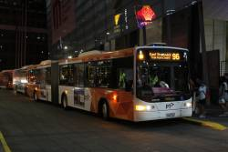 Ventura articulated bus #293 7502AO on a route 96 tram replacement service at the Melbourne Convention Exhibition Centre