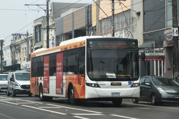 Ventura bus #1066 6615AO on a route 12/109 tram replacement service along Victoria Street, Richmond