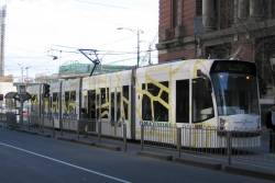 D2.5006 in 'Melbourne All Over' livery on route 96 at the corner of Bourke and Spencer streets