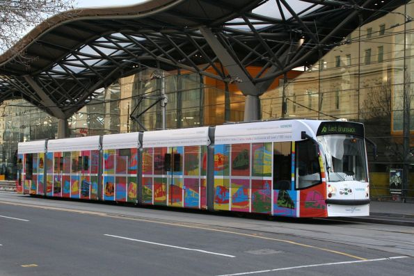 D2.5006 in the '100 Years Of Electric Trams' livery outside Southern Cross