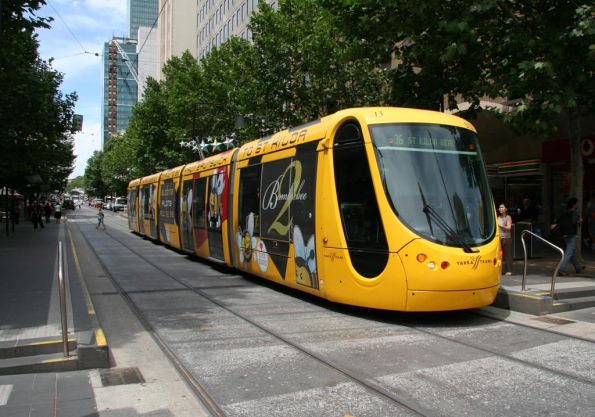 A few minutes later, C2.5113 'Bumblebee 2' on route 96 at Bourke and Swanston
