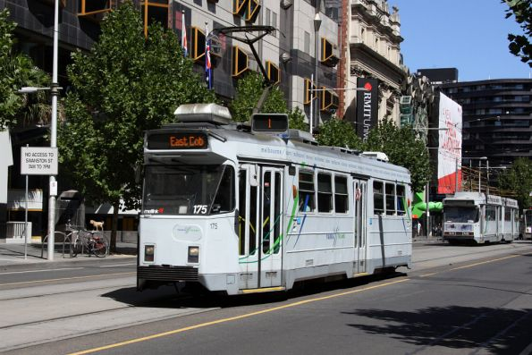 Z3.175 on route 1 headed north on Swanston Street outside RMIT