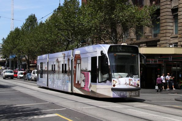 D1.3517 advertising Big M heads north on Swanston Street
