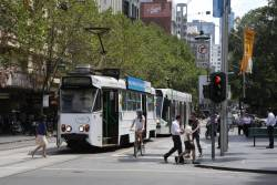 Z1.78 stops for passengers outside Melbourne Town Hall