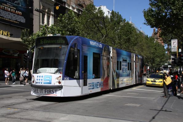 D1.3530 advertising 'Channel 9 News' northbound at Swanston and Bourke Streets