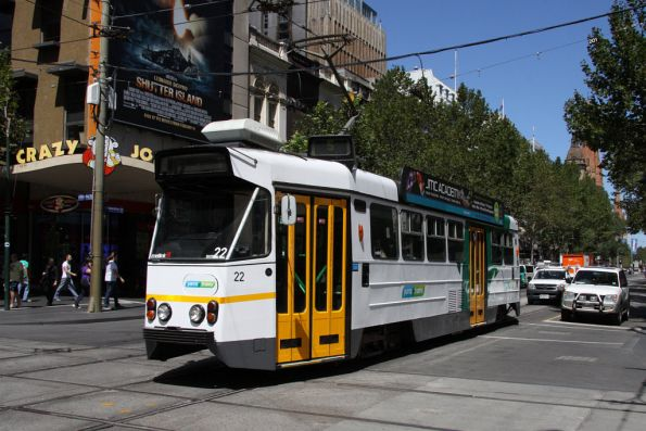 Z1.22 in the YT Mk4 livery, northbound at Swanston and Bourke Streets