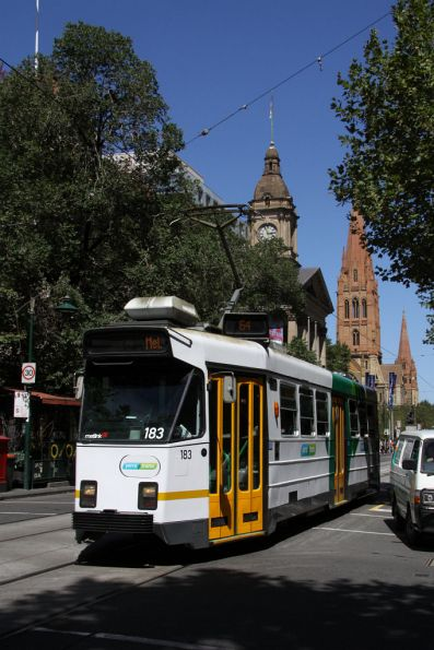 Z3.183 in YT Mk4 heads north on Swanston Street