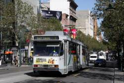 B2.2123 heads north on Swanston Street