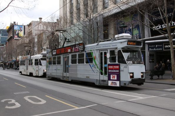 Z3.222 and Z2.113 at the corner of Swanston and Bourke Streets