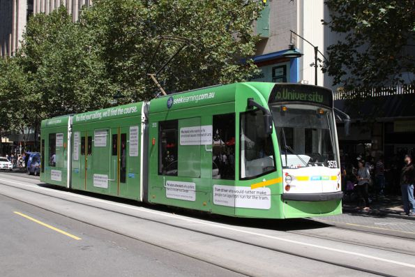 D1.3513 advertising 'Seek Learning' northbound at Swanston and Collins Street