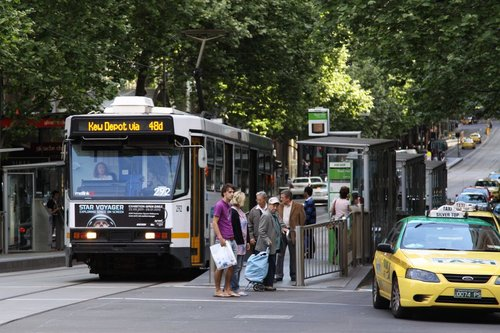 A2.292 on route 48d to Kew Depot at Collins and Swanston Street