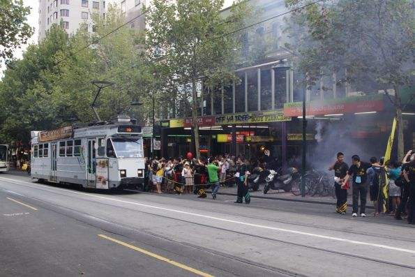 On the move again on Swanston Street: Z3.216 passes Chinese New Year celebrations