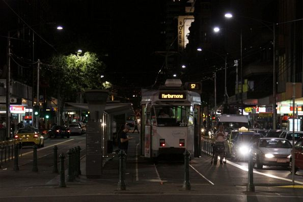 Z3.207 waiting departure from the Sir Robert Risson tram terminus with a route 57 service