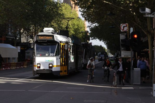 Z3.213 at the corner of Swanston and Bourke Streets