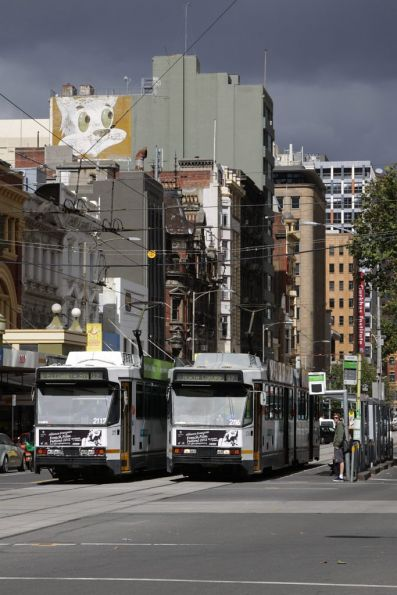 B2.2117 and B2.2116 cross paths at Elizabeth and Bourke Streets
