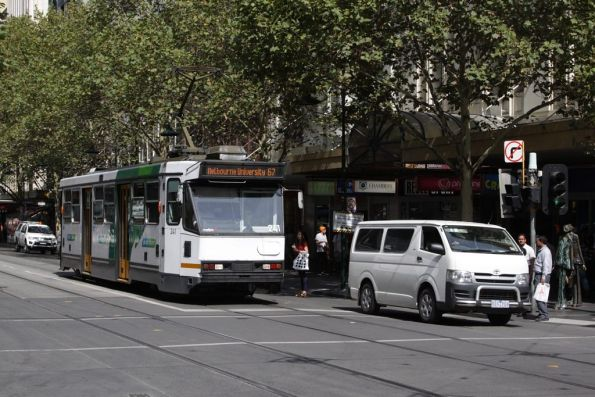A1.241 headed northbound on Swanston Street at Bourke Street