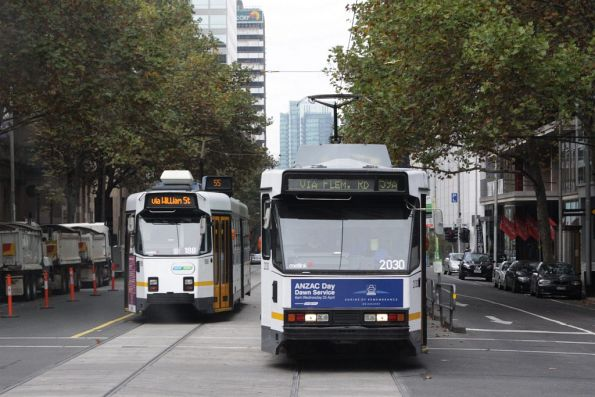 B2.2030 on an altered route 59 services heads north on William Street