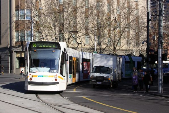D2.5005 turns from Bourke into Spring Street