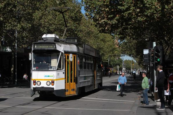 Z1.22 northbound at Swanston and Bourke Streets