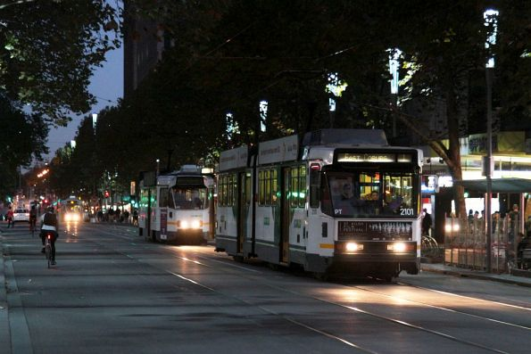 B2.2101 northbound at Swanston and Bourke Streets