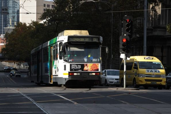 B2.2013 heads north at Spencer and Collins Street