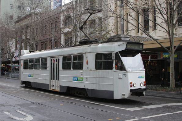 Z1.70 in a one-off livery northbound at Bourke and Swanston Streets