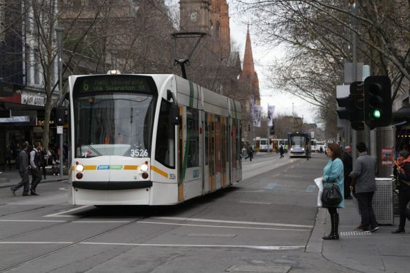 D1.3526 northbound at Bourke and Swanston Streets