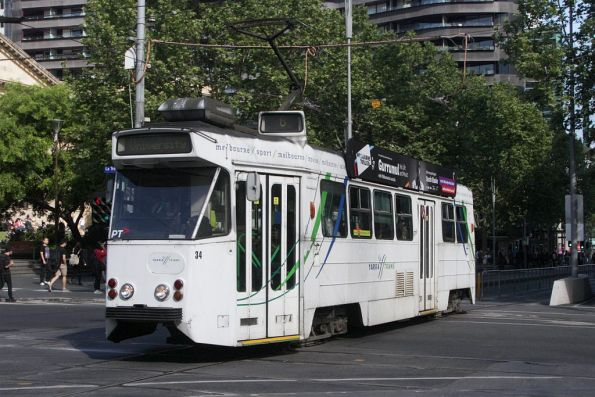 Z1.34 northbound at Swanston and La Trobe Streets