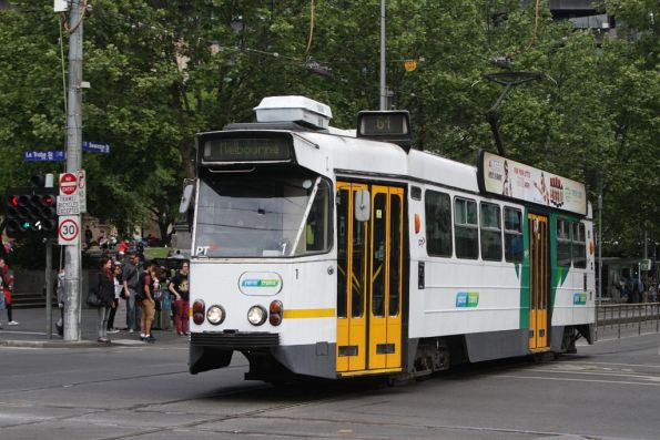 Z1.1 northbound at Swanston and La Trobe Streets