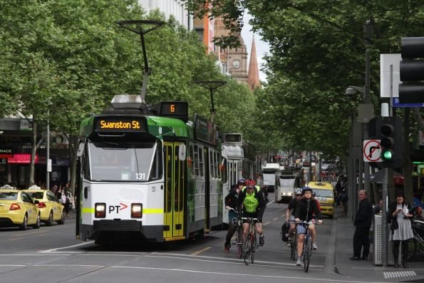 Z3.131 northbound at Swanston and Lonsdale Streets