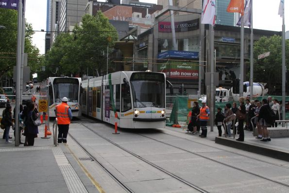 D2.5005 passes D2.5015 at the Bourke and Elizabeth Street worksite